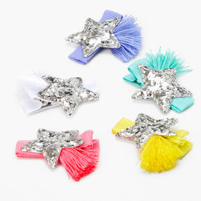 Claire's Club Glitter Star Hair Clips - 5 Pack,