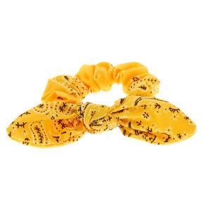 32d05fc4b Paisley Print Bandana Bow Hair Scrunchie - Yellow