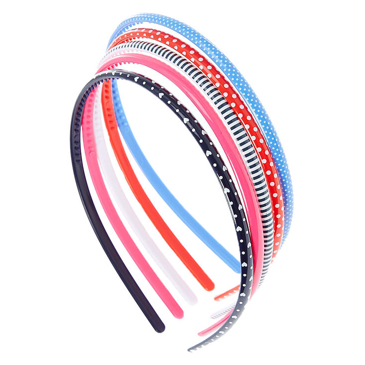 Claire's Club Patterned Headbands - 5 Pack,