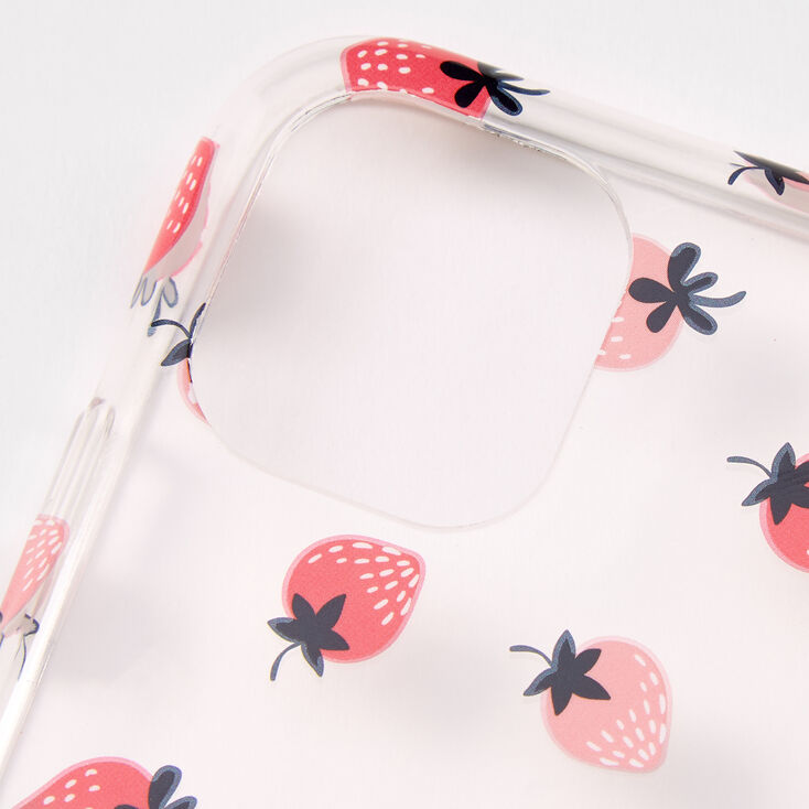 Strawberry Ring Holder Protective Phone Case - Fits iPhone 11,