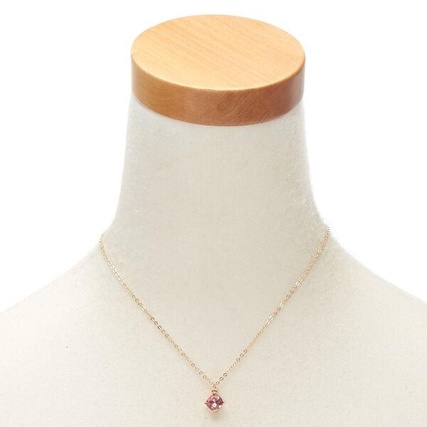Claire's - october birth stone pendant necklace - 2