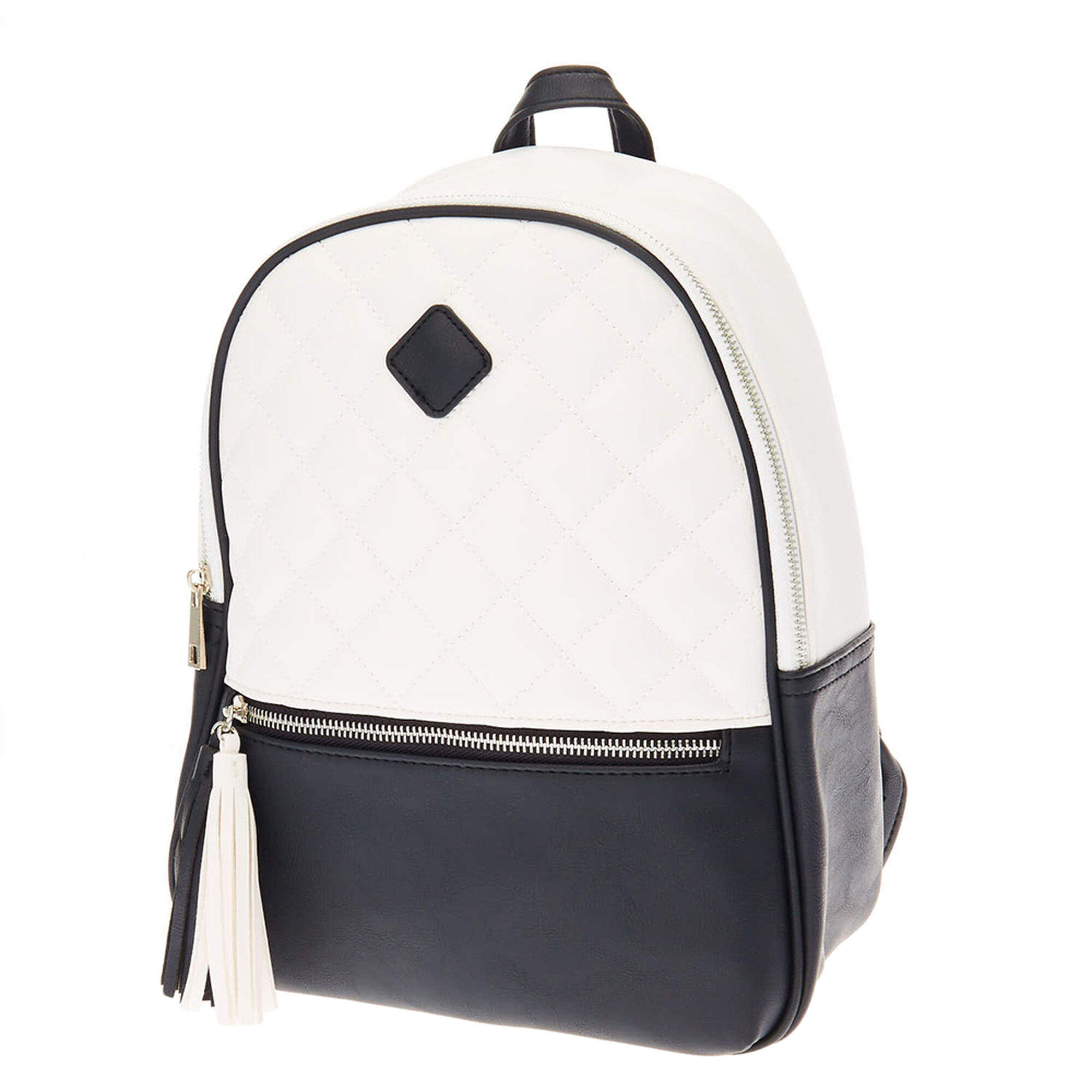 7aa9b9d23 Monochrome Quilted Backpack | Claire's US