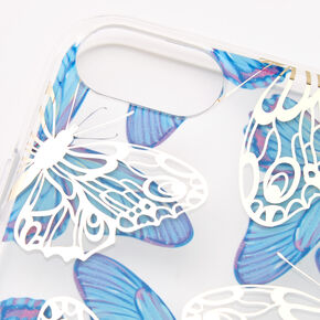 Blue & White Butterflies Phone Case - Fits iPhone 6/7/8/SE,