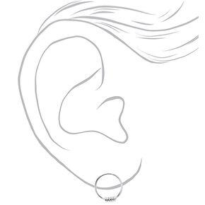 Sterling Silver Hoop Stud Earrings,