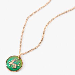 Gold Zodiac Mood Pendant Necklace - Aries,