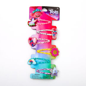 Trolls World Tour Glitter Snap Hair Clips - 6 Pack,