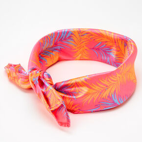 Palm Leaf Print Bandana Headwrap - Pink,