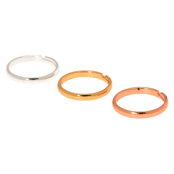 Claire's - mixed metal classic band toe ring set - 1