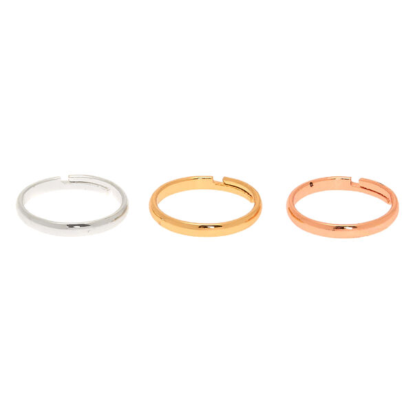 Claire's - mixed metal classic band toe ring set - 2