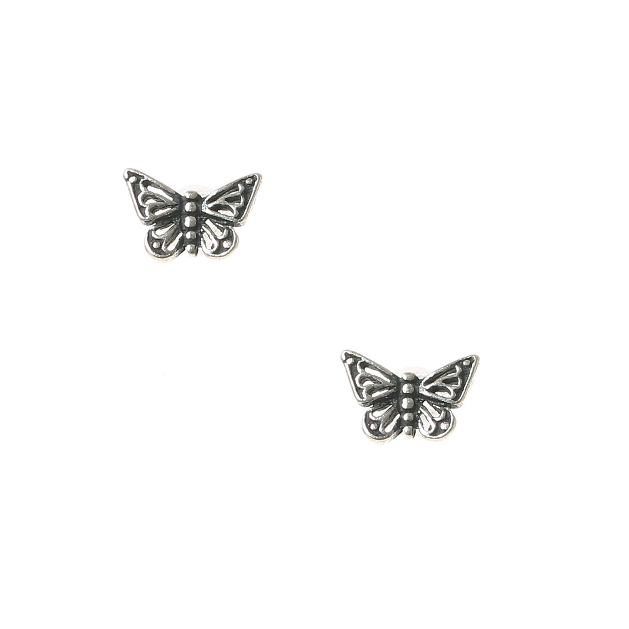 monroe jewelry gold lyst stud normal in gallery product earrings tiny alex butterfly metallic