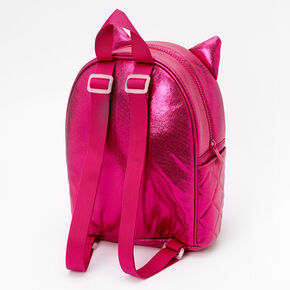 Quilted Cat Small Backpack - Pink,