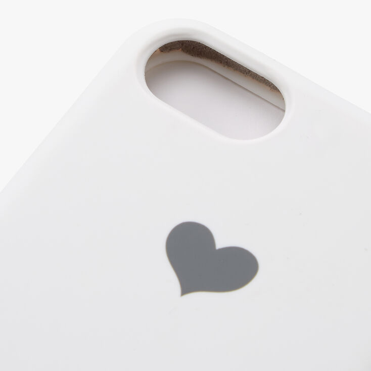 White Heart Phone Case - Fits iPhone 6/7/8/SE,