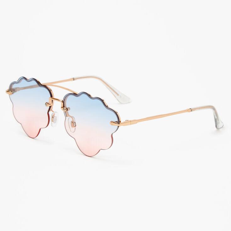 Gold Blue & Pink Ombre Cloud Sunglasses,