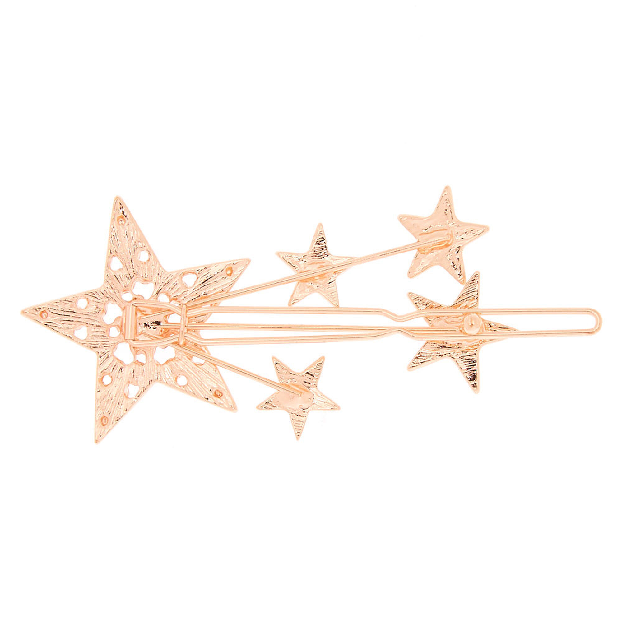 Rose Gold Shooting Star Hair Clip | Claire's US