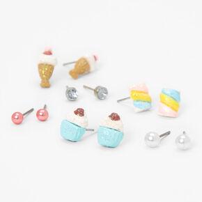 Ice Cream Treats Stud Earrings - 6 Pack,