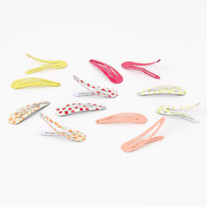 Fruit Assortment Snap Hair Clips - 12 Pack,