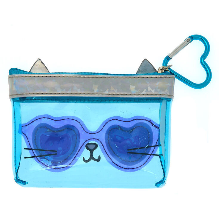 Cam the Cat Rainbow Zipper Purse - Blue,
