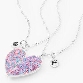 Best Friends Pastel Confetti Pendant Necklaces - 2 Pack,