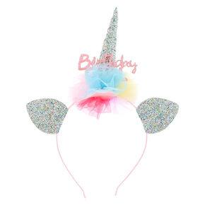 Serre-tête licorne à paillettes «Birthday Girl» du ClubClaire's,