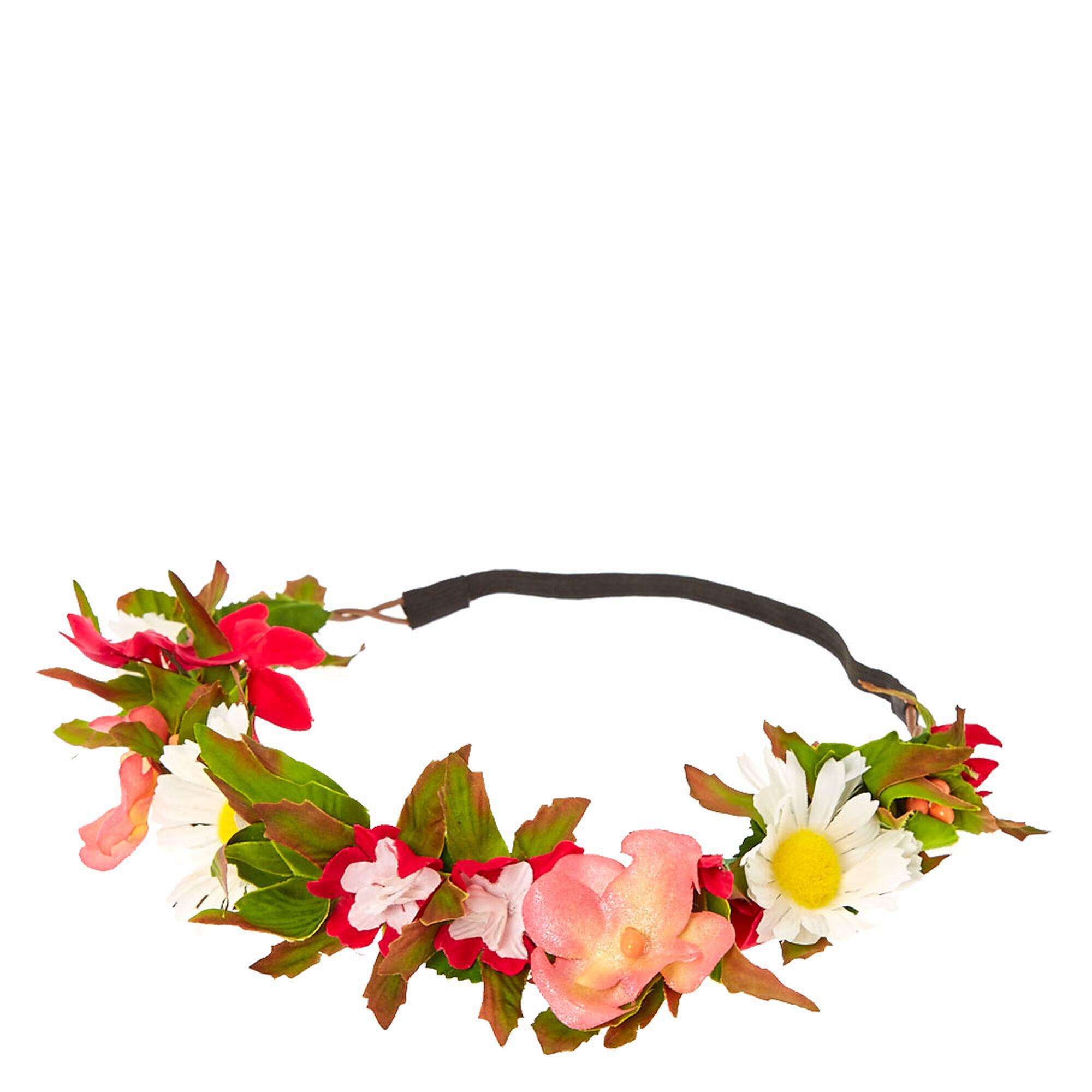 Pink wildflower crown claires us pink wildflower crown izmirmasajfo