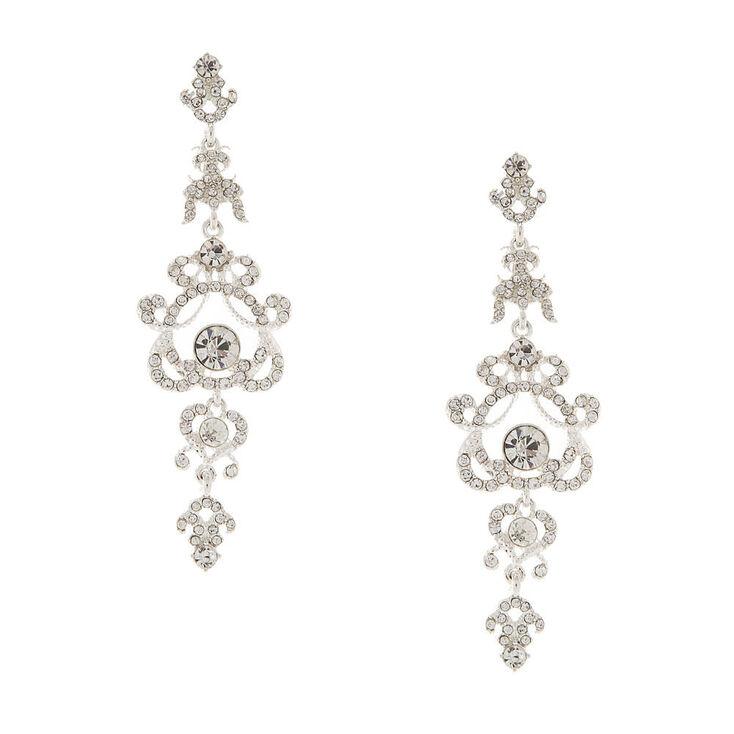 Crystal Regal Chandelier Drop Earrings,