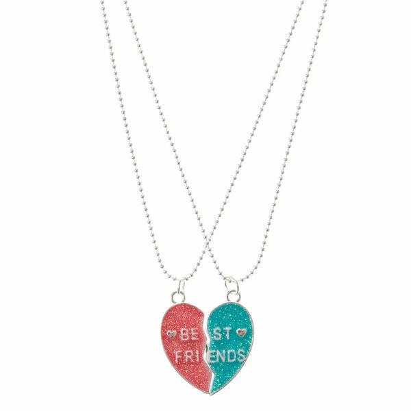 Claire's - best friends heart pendant necklaces - 1