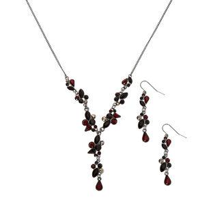 Hematite Y-Neck Jewellery Set - Red, 2 Pack,