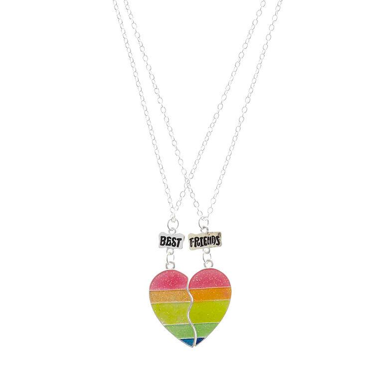 43761b8204c Rainbow Best Friend Necklace Set | Claire's US