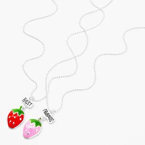 Colliers à pendentif fraise Best Friends - Lot de 2,