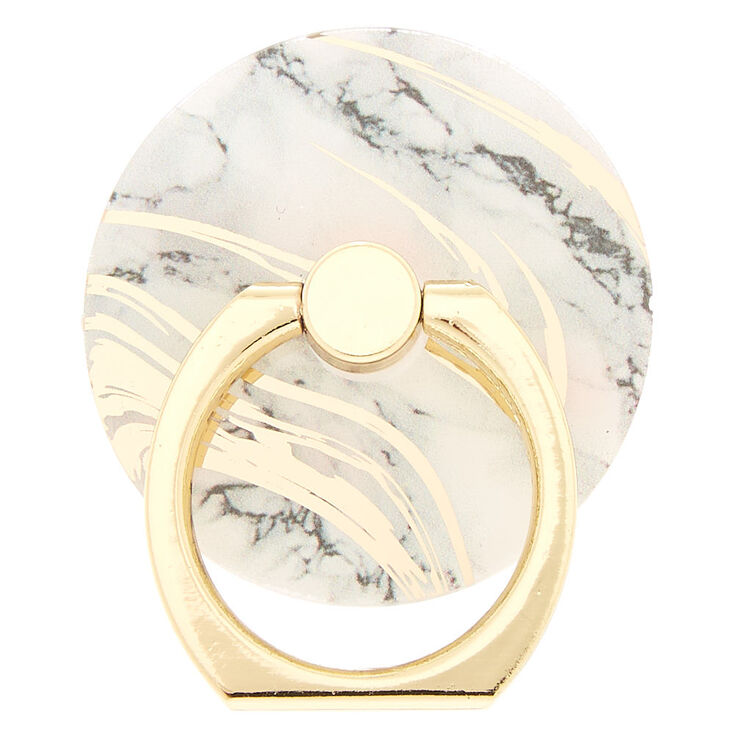 Gold Marble Ring Stand,