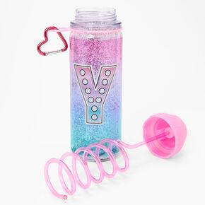 Initial Water Bottle - Pink, Y,