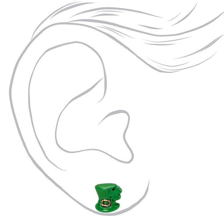 Clous d'oreilles fête de la Saint-Patrick - Lot de 6,