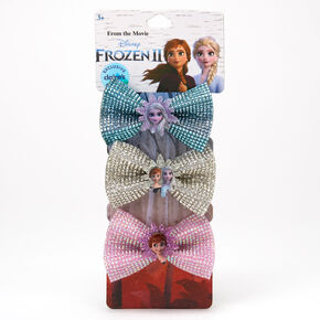 ©Disney Frozen 2 Glitter Bow Hair Clips – 3 Pack,