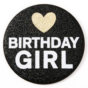 Badge à paillettes Birthday Girl - Noir,