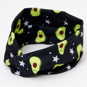Avocado Print Button Headwrap,