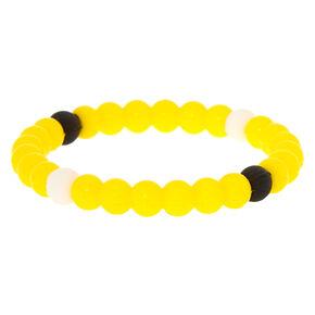 Neon Fortune Stretch Bracelet - Yellow,