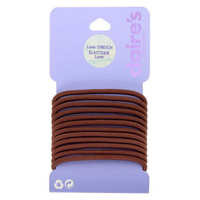 Luxe Hair Bobbles - Brown, 12 Pack,