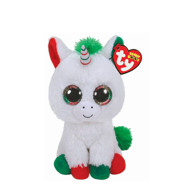 Ty Beanie Boo Small Candy Cane the Unicorn Plush Toy  4b3cb9514c6b