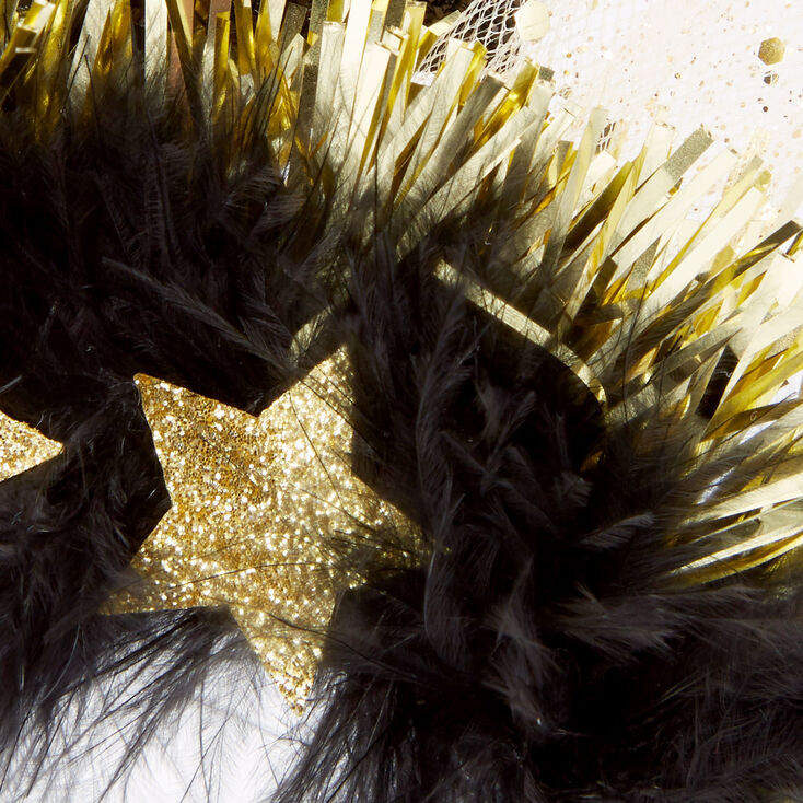2021 New Year's Eve Tinsel & Feather Headband - 6 Pack | Claire's