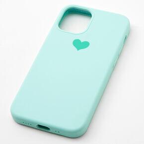Mint Heart Phone Case - Fits iPhone 12 Mini,