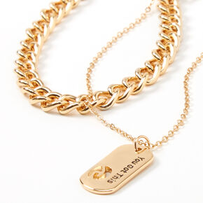 Sky Brown™ Gold Chain Choker Necklaces - 2 Pack,