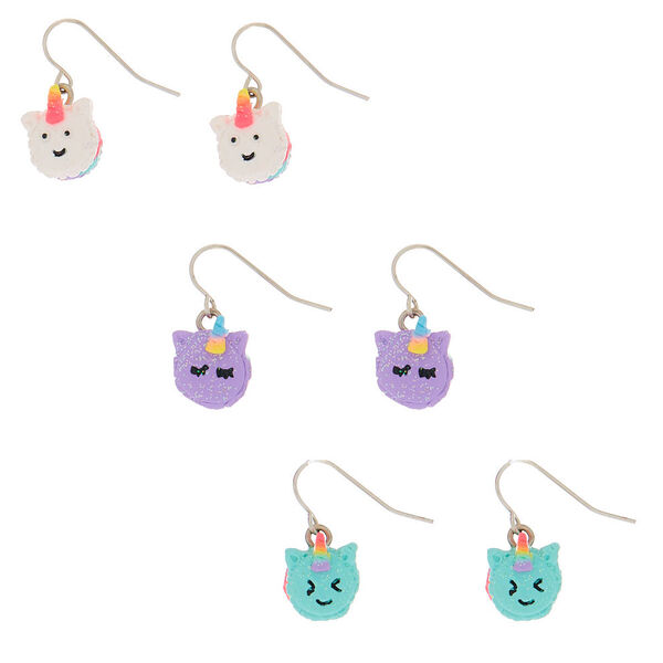 Claire's - unicorn macaron drop earrings - 1