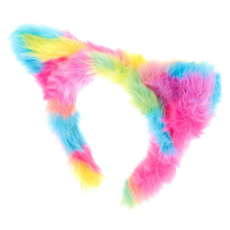 Furry Rainbow Cat Costume Set- 3 Pack,