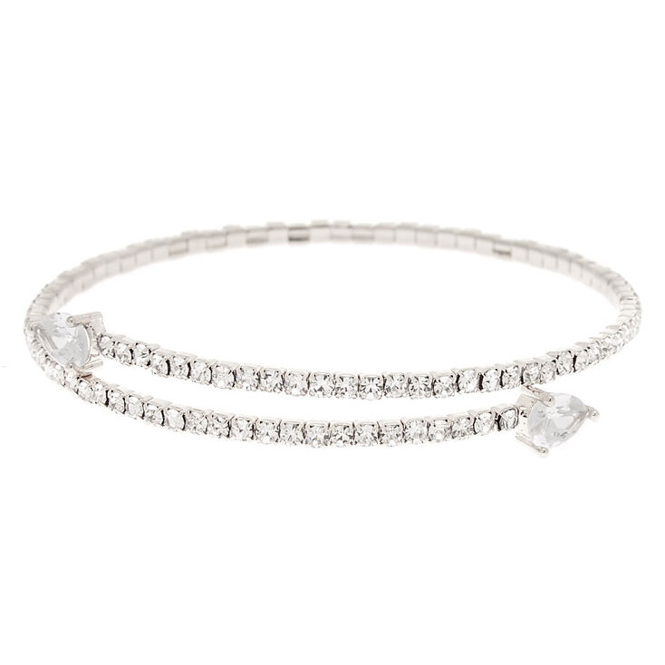 Beautiful silver rhinestone bracelet