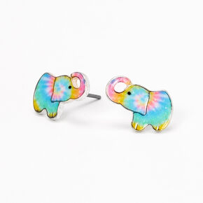 Tie-Dye Elephant Stud Earrings,