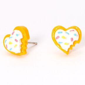 Cookie Heart Stud Earrings,