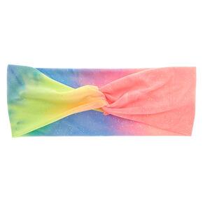 Glitter Rainbow Tie Dye Headwrap,