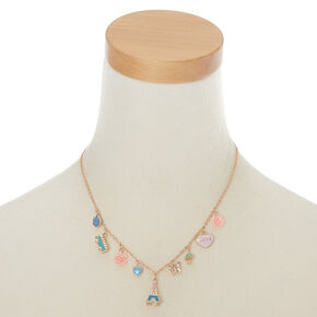 European Traveller Charm Statement Necklace,