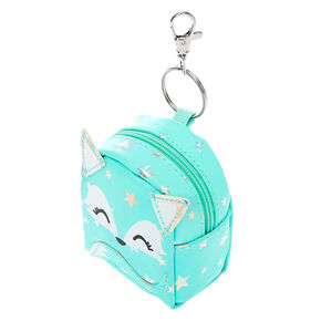 Trixie the Fox Mini Backpack Keychain - Mint,