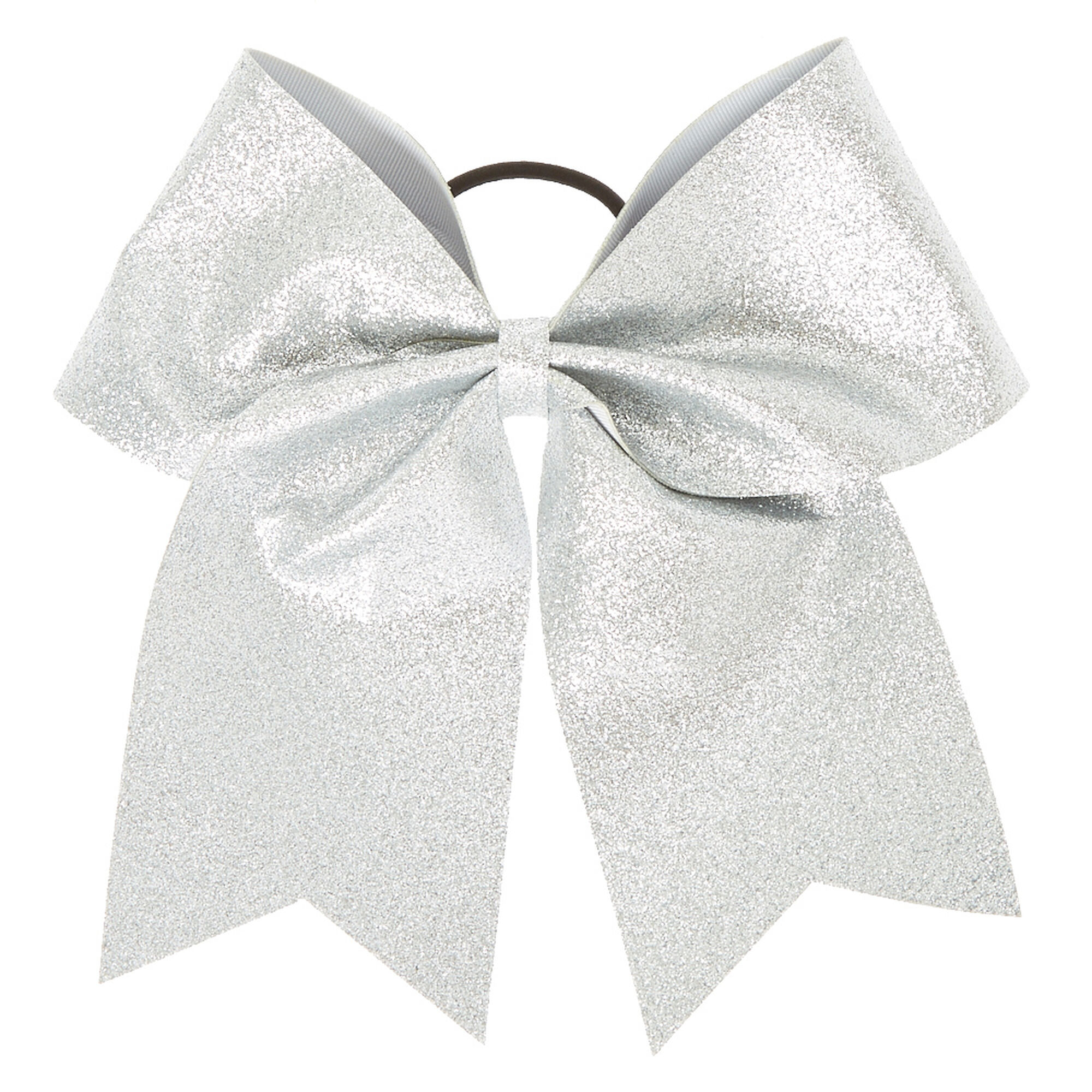 Silver Glitter Cheer Bow Claire S Us